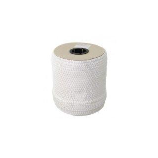 Seil PP 8-fach geflochten weiß 6mm-Spule 30m