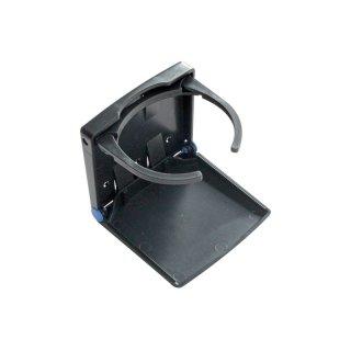 Klappbecherhalter schwarz verstellbar aus Kunststoff, schwarz